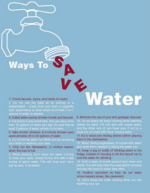 20 Ways to Conserve Water at Home