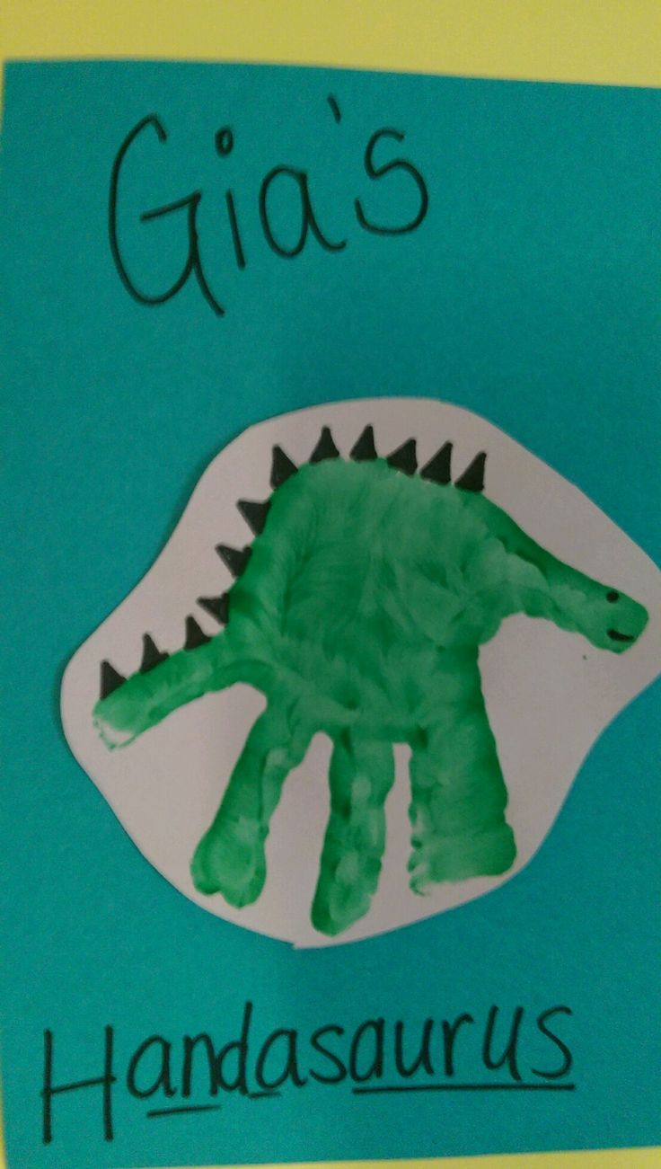 Dinosaur arts and crafts - Dinosaur Handprint Arts Crafts Idea For Children