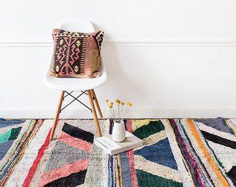 Vintage marokkanischen Boucherouite Kelim Teppich von LoomAndField