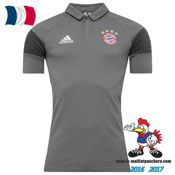 Promo Polo De Foot Bayern Munich Gris 2016/2017 Pas Cher