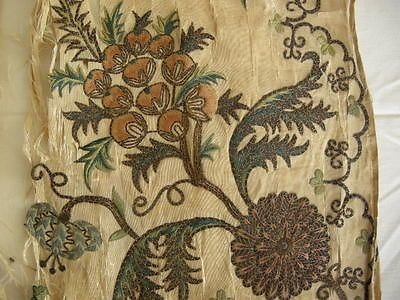 Antique-18th-Century-Embroidered-Silk-Apron ******