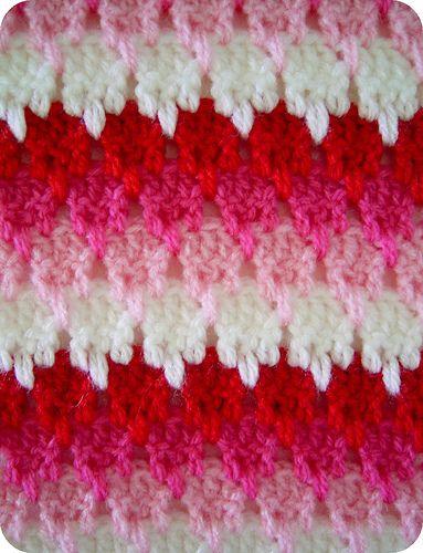 Lark's foot crochet stitch