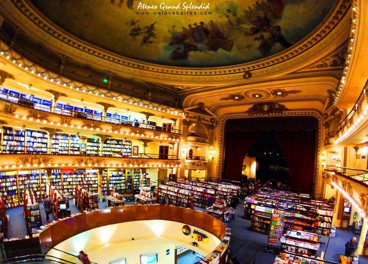 #Libreria  El Ateneo Grand Splendid #bookstore  #BuenosAires #Argentina #books