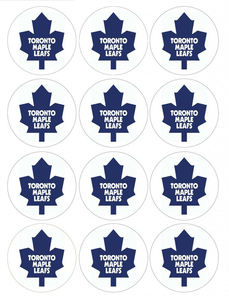 "Single Source Party Supply - 2.5"" Toronto Maple Leafs Cupcake Edible Icing Image Toppers"