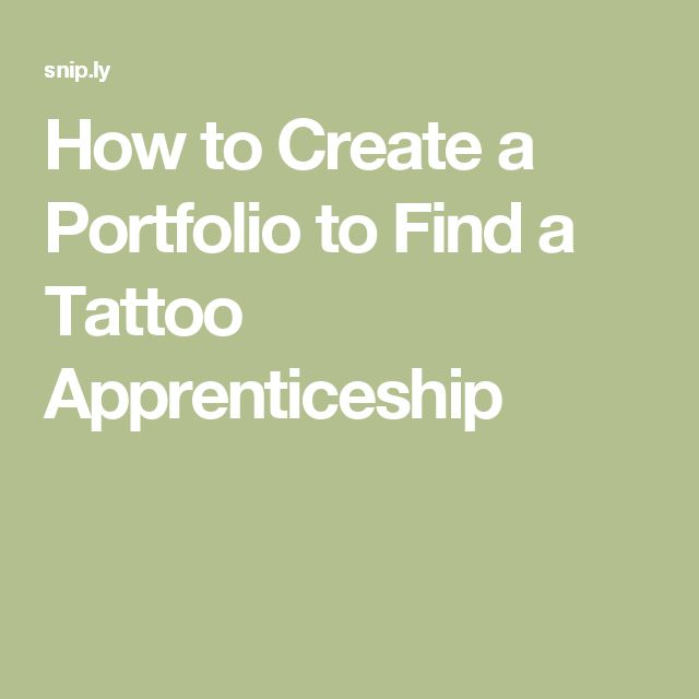 How to Create a Portfolio to Find a Tattoo Apprenticeship