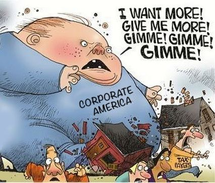 State and local subsidies to corporations: An excellent New York Times study by Louise Story calculated that state and local government provide at least $80 billion in subsidies to corporations. Over 48 big corporations received over $100 million each. GM was the biggest, at a total of $1.7 billion extracted from 16 different states, but Shell, Ford and Chrysler all received over $1 billion each. Amazon, Microsoft, Prudential, Boeing and casino companies in Colorado and New Jersey received…