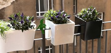 Les 25 meilleures id es de la cat gorie plantes en pot en for Amenagement balcon 10m2