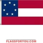 High Wind, US Made Stars & Bars Flag 6x10