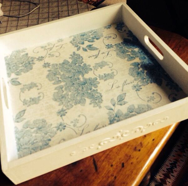 Hand Made Tray Decoupage