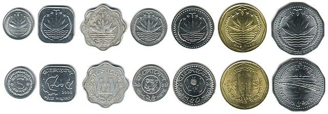 Discover the Coins in Circulation Around the World: Bangladeshi Money - Bangladesh Coins in Circulation