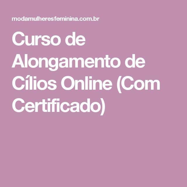 Curso de Alongamento de Cílios Online (Com Certificado)
