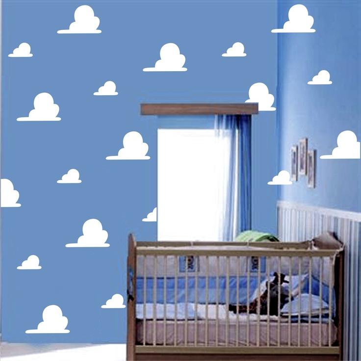 Nubes de toy story para habitaci n infantil decoraci n - Letras decorativas para habitaciones infantiles ...