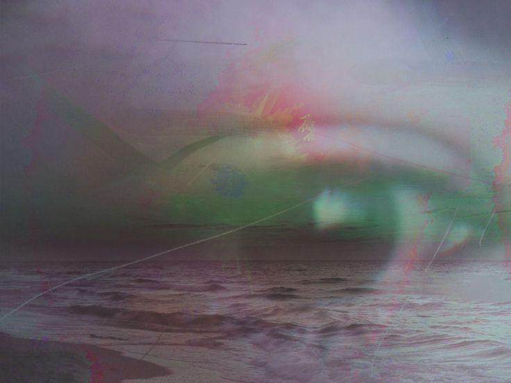 eye, sea, purple, green