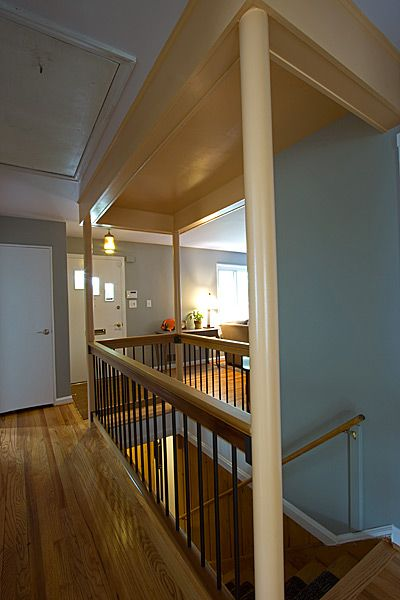We opened up this #stairway on all sides, connecting the basement to the living room.
