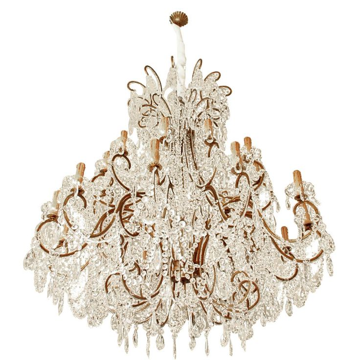Wow! Impressive Italian Chandelier with Vintage Murano Glass Crystals | From a unique collection of antique and modern chandeliers and pendants  at @1stdibs http://www.1stdibs.com/furniture/lighting/chandeliers-pendant-lights/