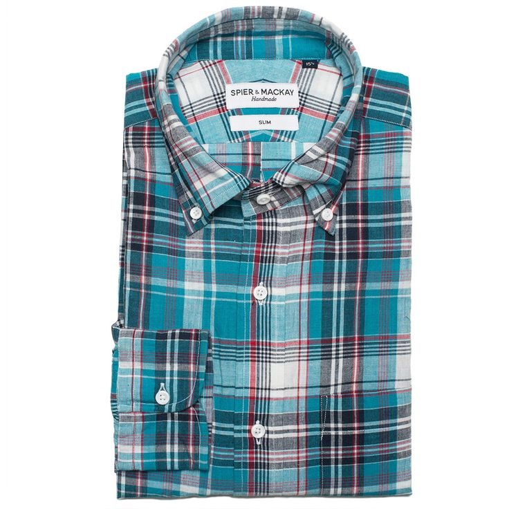 Get Aqua Classic Madras Check shirts at Spier & Mackay. This shirt is designed with a contemporary fit  to know more visit us today at: http://www.spierandmackay.com/product_information/3354_aqua_classic_madras_check