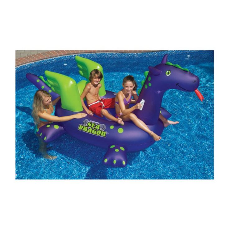Blue Wave Swimline Giant Sea Dragon Inflatable Pool Toy   NT1552