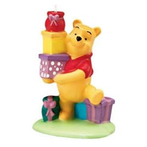 Pooh and Presents Candle
