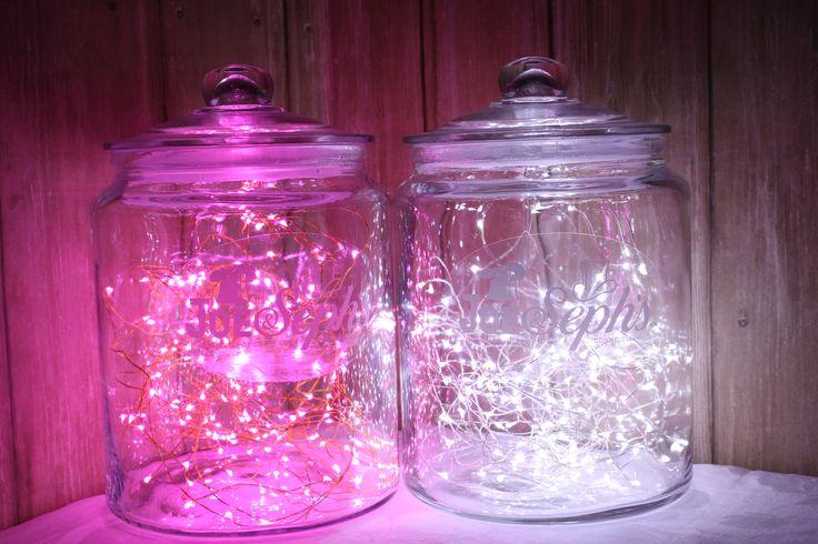 Our lights + someone else's jar = fabulous