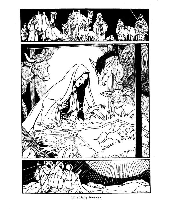 12 best Coloring therapy images on Pinterest Coloring pages - new coloring pages of baby jesus in the stable