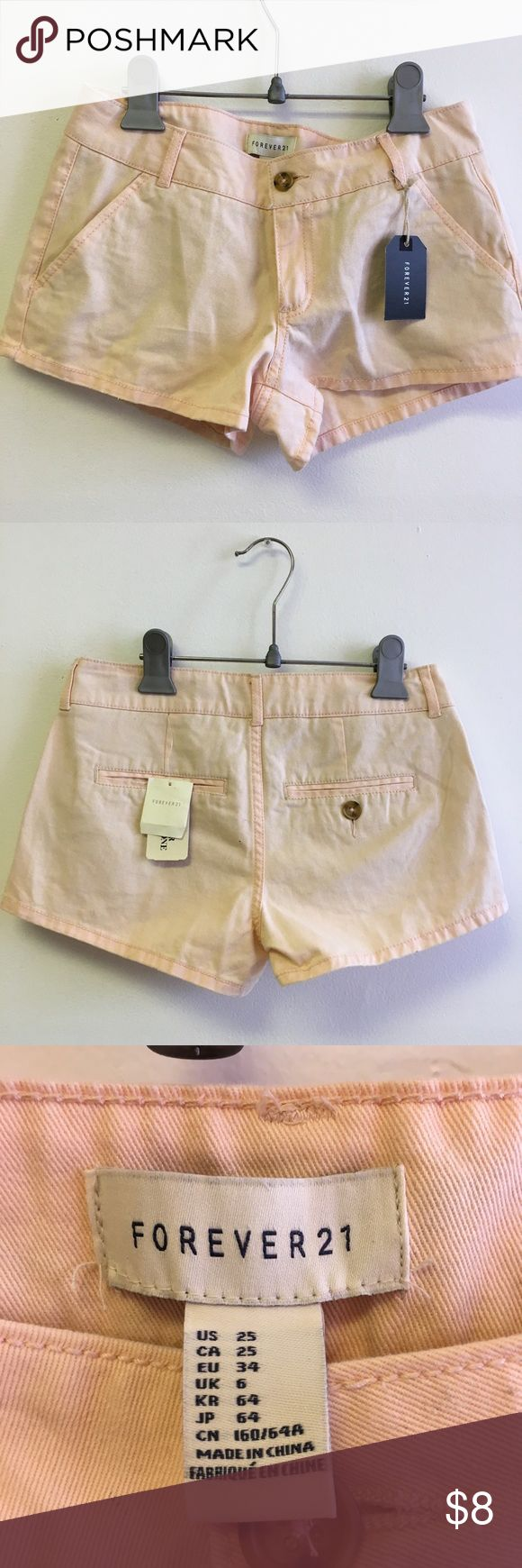 NEW peach shorts 🍑 Peach colored shorts never worn before with tags still attached Forever 21 Shorts Jean Shorts