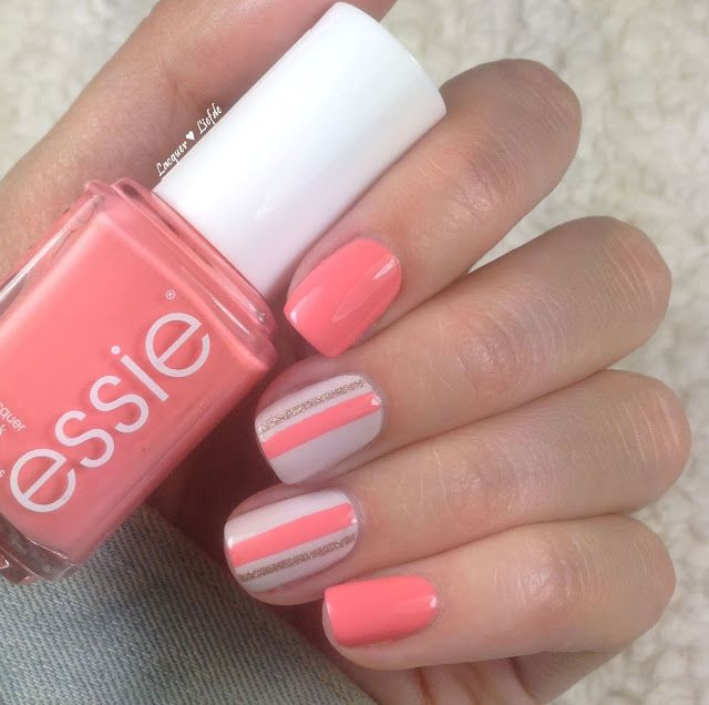 Essie Peach Side Babe EU aus der Surf's Up Sommerkollektion 2015 Nagel Desig…