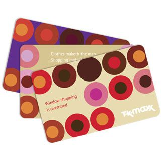 Use this gift voucher on AllGifts.ie to order TK Maxx gift cards for use in the 16 TK Max stores throughout the Republic of Ireland.     TK Maxx offers a huge range of brands with up to 60% off recommended retail prices. http://www.allgifts.ie/TK-Maxx-!375-giftpartner.html