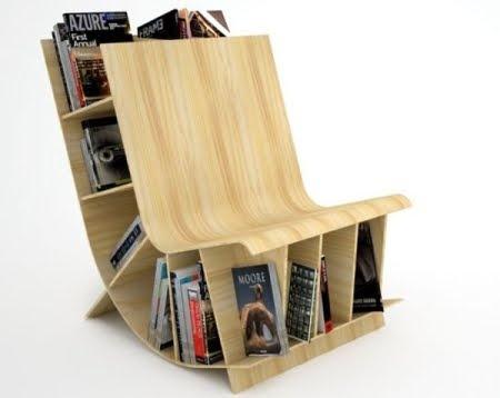 Silla de madera 2011 para lectores de Fishbol | Decoración