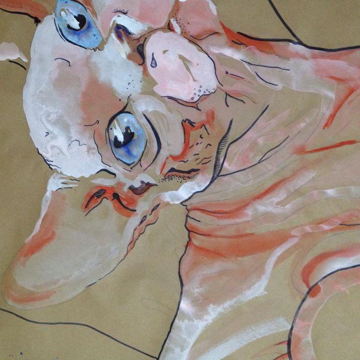 Naked cat Illustrator: Mala Lillford