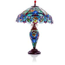 """Victorian Style Double Lit 26"""" H Table Lamp with Bowl Shade"""