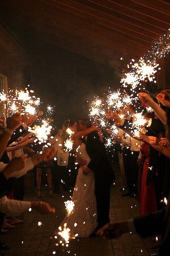 wedding sparklers sparkler send off wedding ideas / http://www.himisspuff.com/sparkler-wedding-exit-send-off-ideas/9/