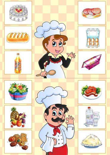 Loto de comida | Mírame y aprenderás