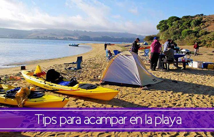consejos y tips para acampar en la playa de manera eficiente