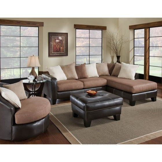 ... Mocha Two Piece Sectional, And Other Living Room Sectionals At Colfax  Furniture And Mattress In Greensboro, Winston Salem And Kernersville, NC.
