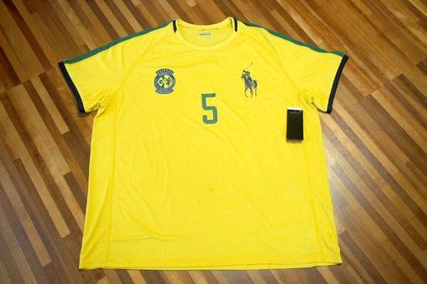 送料込み 即決 新品未着用 RALPH LAUREN ラルフローレン 半袖Tシャツ 黄/緑/黒 XXL_画像1