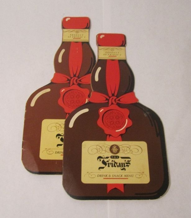 TGI FRIDAYS MENU - Vintage Bar Menu