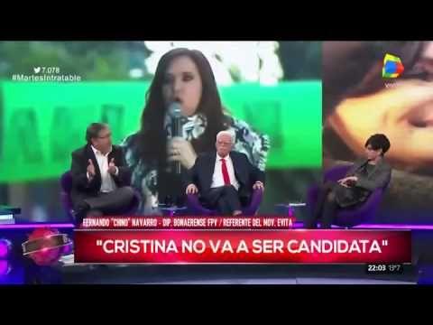 """""""Chino"""" Navarro habló en Intratables: """"Cristina no va a ser candidata"""""""