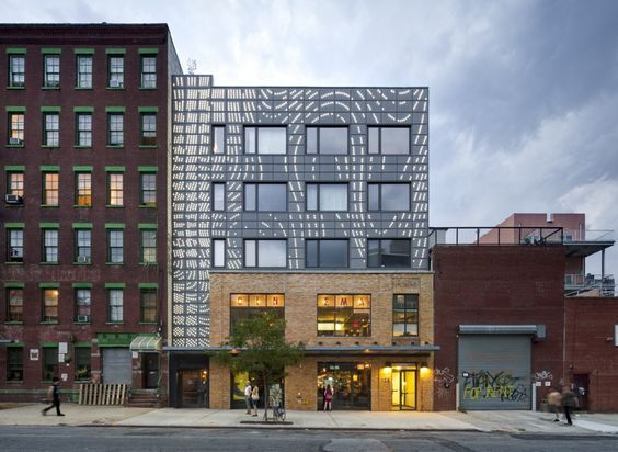 mixed-use building in brooklyn with a cinema house