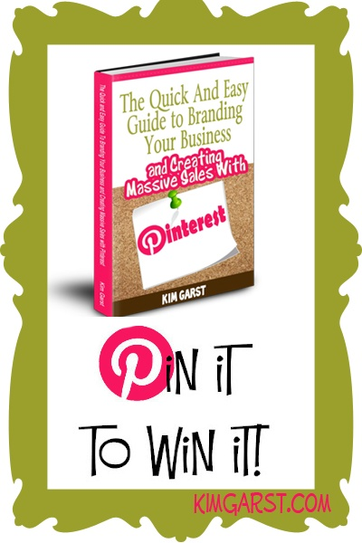 Pinning this as I think Kim Garst tells it like it is  My vision of my future includes being self motivated and confident in business.      PIN IT to WIN your copy of The Quick and Easy Guide To Branding Your Business and Creating Massive Sales with #Pinterest! PIN IT TO WIN IT! We'll pick a winner tonight, 3/5 at 8:00 pm ET! GET READY, GET SET...PIN!