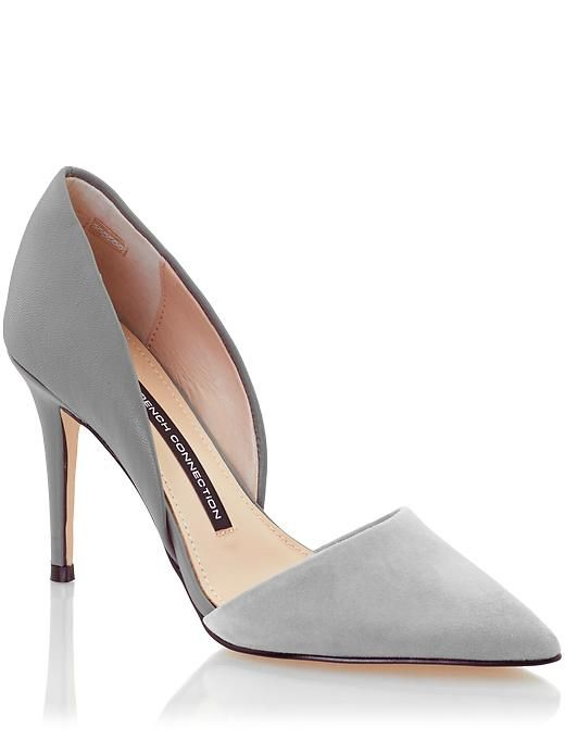 French Connection Womens Elvia Pump Size 10 (EU 41) - Grey Otter by: French Connection @Piperlime