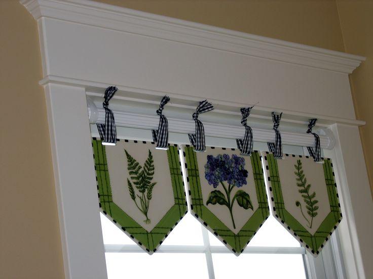 Tile window valances from Heather Lane Pottery
