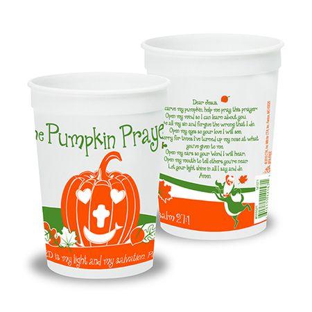 pumpkin prayer reusable christian halloween party cups - Religious Halloween Crafts