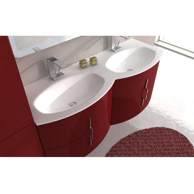 Mobile Bagno Doppio Lavabo 138 Cm In 4 Colori Spedizione Ed Iva