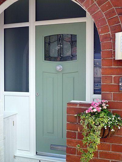 Green composite door installation