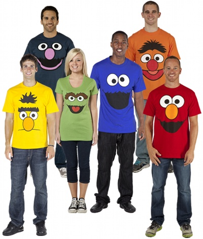 Sesame Street costumes for groups (can be turned into T-Shirt dresses or worn with tutus)