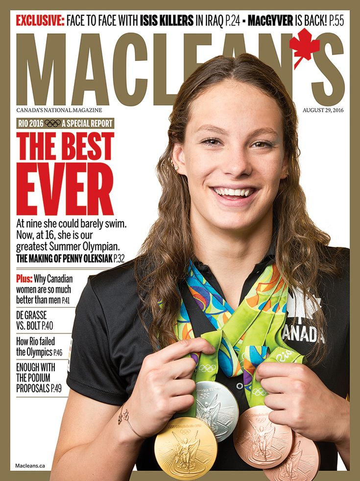 Penny Oleksiak - At Rio 2016, she won four medals, set one Olympic record and five Canadian records in her first Olympics. Oh, and she's just getting started.