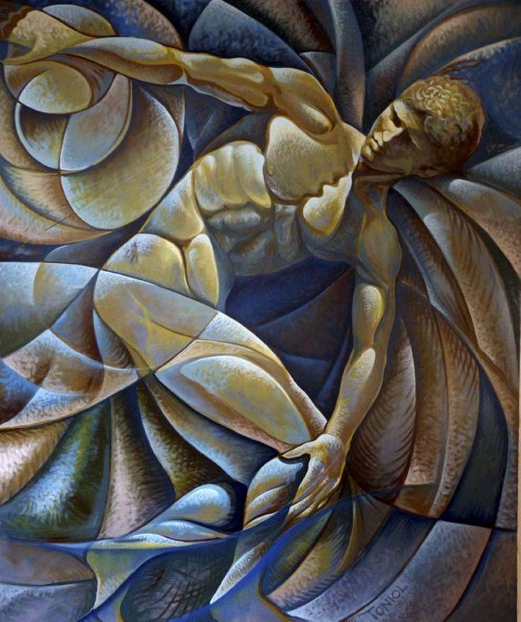 Discobolo  Acrilico su tela  120x100
