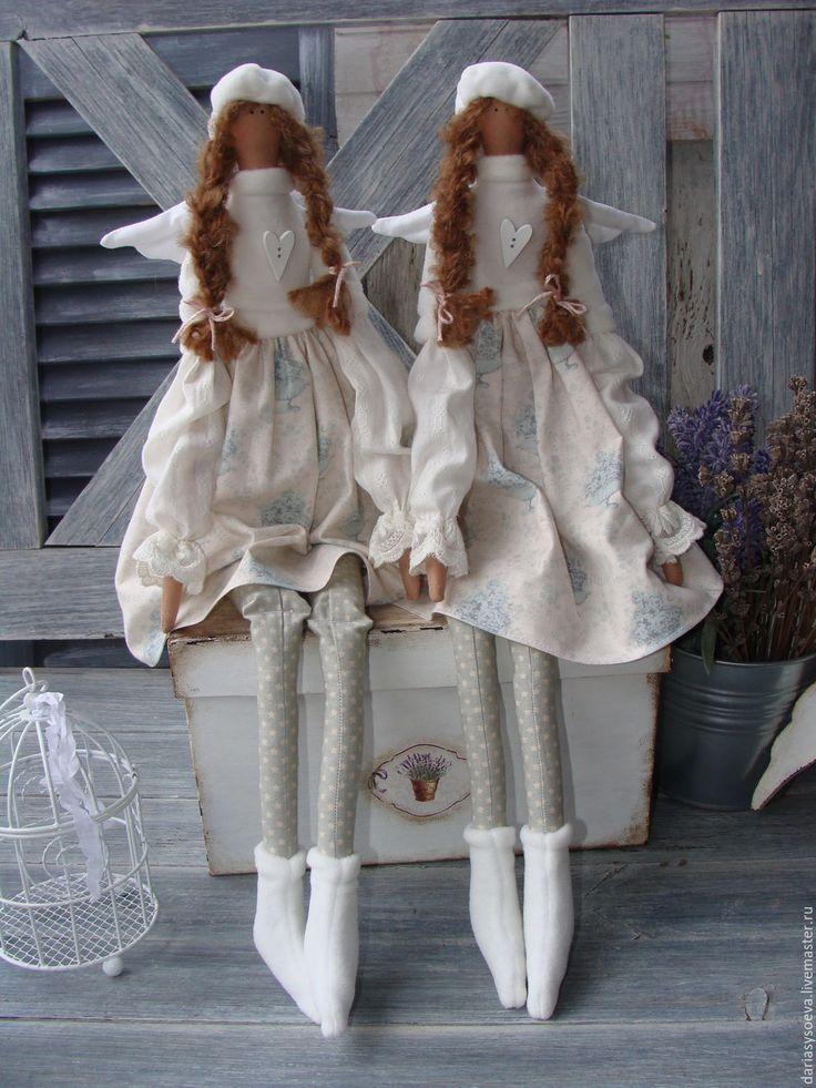 Купить Зимние ангелы... тильда - голубой, тильда, тильда кукла, тильда ангел