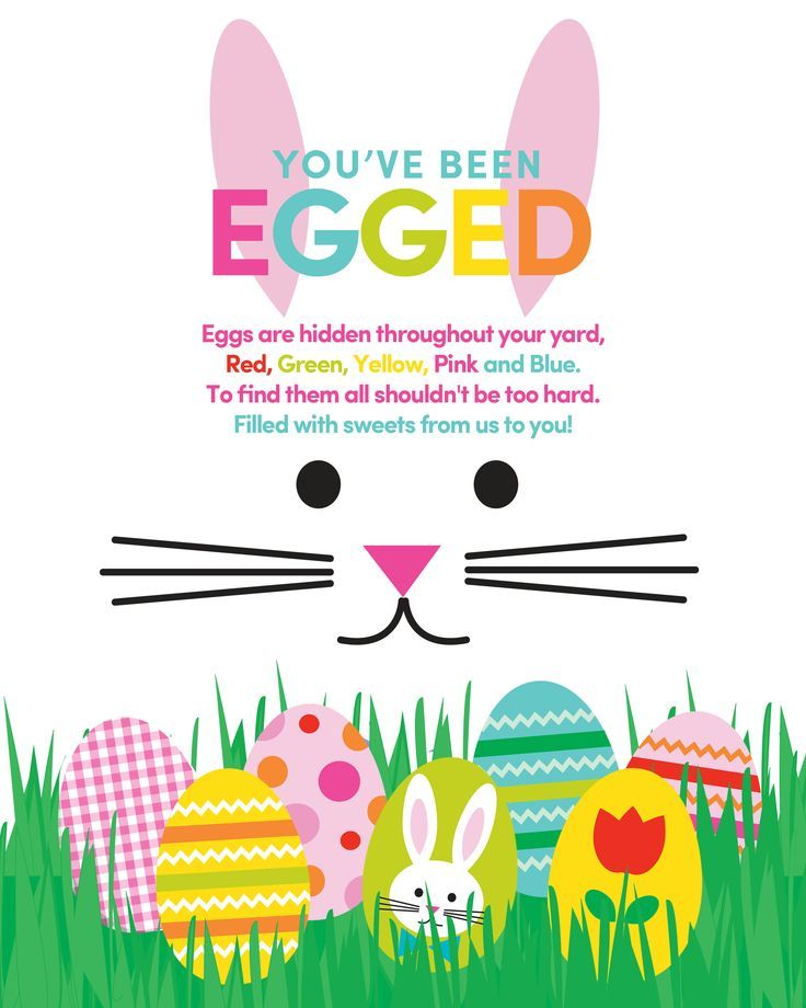 Easter ideas gifts for family and friends 35 youve been egged printable a fun tradition to do as a family for negle Images