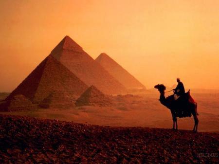 Pyramids at Giza Egypt